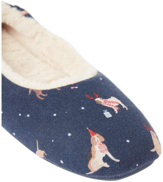 Joules Dreamwell Fleece Lined Slipper with Rubber Outsole Welly - Multi
