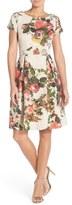 Adrianna Papell Floral Matelassé Fit & Flare Dress (Regular & Petite)
