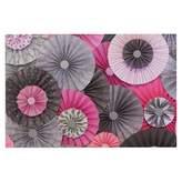 KESS InHouse Heidi Jennings Bubble Gum Pink Gray Decorative Door Mat, 2' x 3' Floor