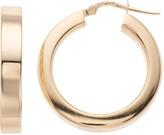 Sterling Silver Hollow Square Hoop Earrings