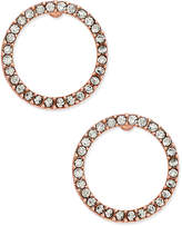 INC International Concepts Pave Crystal Circle Stud Earrings, Created for Macy's