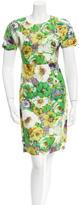 Blumarine Floral Sheath Dress