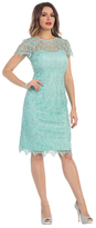 May Queen - Stylish Cap Sleeve Lace Formal Dress MQ1253