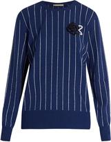 Christopher Kane Sequin-embellished striped sweater