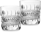 Waterford Irish Lace Crystal Double Old Fashioned Glass (Set of 2)