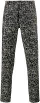 Christian Dior scribble print trousers - men - Cotton/Viscose - 50