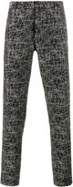 Christian Dior scribble print trousers - men - Cotton/Viscose - 52