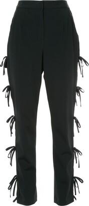 Self-Portrait Side Tie Detail Trousers