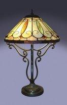 1908 Studios Arroyo Scroll Base Tiffany Style Table Lamp