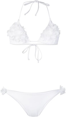 La Reveche Floral Applique Bikini Set