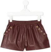 Le Petit Coco faux leather shorts