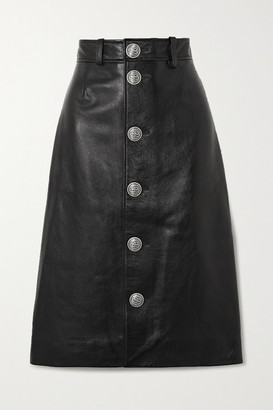 Balenciaga Leather Skirt - Black