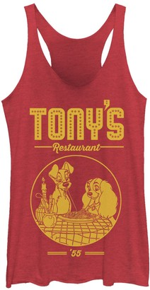 Licensed Character Juniors' Disney Lady And The Tramp Tony's Restaurant Poster Tank