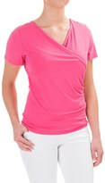 Specially made Wrap-Front Shirt - Rayon, Short Sleeve (For Women)