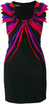 Capucci draped appliqué mini dress