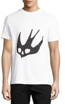 McQ by Alexander McQueen Swallow Logo Crewneck T-Shirt, Optic White
