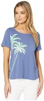 Tommy Bahama Frond Of View Short Sleeve Crew Tee (Infinity Sky) Women's Clothing