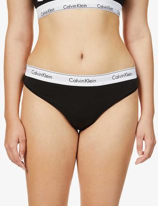 Calvin Klein Plus Modern Cotton cotton-blend thong