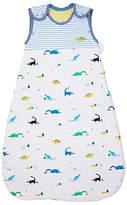 John Lewis Dino Print Sleep Bag, 2.5 Tog, Blue