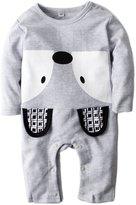 Big Elephant Baby Boys' 1 Piece Cute Long Sleeve Pajama Romper Sleeper H77