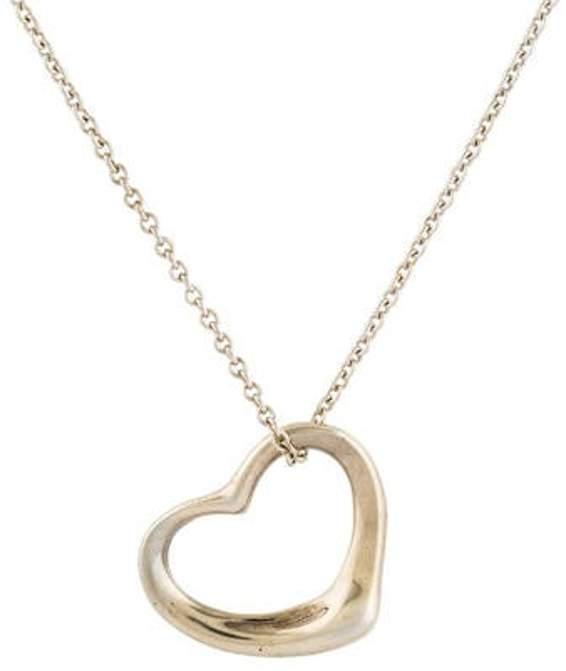 c27016362a1ff Open Heart Pendant Necklace silver Open Heart Pendant Necklace