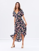 Viva Ruffle Wrap Dress