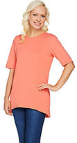 Denim & Co. As Is Essentials Elbow Sleeve Round Neck Tunic