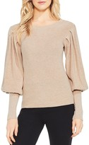 Vince Camuto Balloon Sleeve Ribbed Sweater