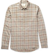 Folk Checked Cotton And Wool-blend Shirt - Beige