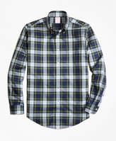 Brooks Brothers Non-Iron Regent Fit Dress Gordon Tartan Sport Shirt