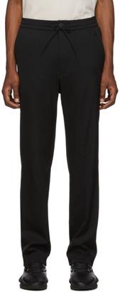 Y-3 Black Wool Sateen Trousers