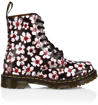Dr. Martens 1460 Pascal Pansy Fayre Floral Leather Combat Boots