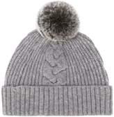 N.Peal fur bobble hat