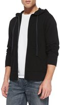 James Perse Cotton-Knit Zip Hoodie, Black