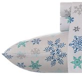 Eddie Bauer Indigo Flannel Sheet Set, Twin X-Large, Tossed Snowflake
