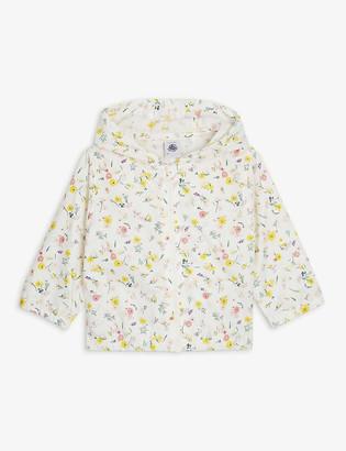 Petit Bateau Floral shell raincoat 6-36 months