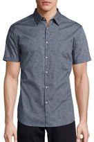 John Varvatos Short Sleeve Woven Floral Shirt