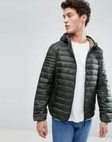 Celio Lightweight Padded Jacket With Hood