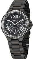 SO&CO New York Women's 5019.5 Madison Crystal-Accented Stainless Steel Watch with Link Bracelet