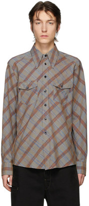 Lemaire Grey Check Wester Shirt