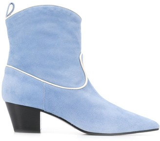 L'Autre Chose Piped Trim 55mm Ankle Boots