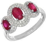 Lord & Taylor 14K White Gold Ruby and Diamond Ring, 0.264 TCW