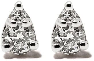 Dana Rebecca Designs 14kt White Gold Diamond Teardrop Stud Earrings