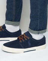 Polo Ralph Lauren Faxon Low Suede Trainers