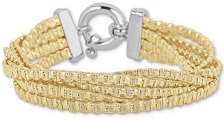 Italian Gold Multi-Strand Chain Bracelet in 14k Gold-Plated Sterling Silver
