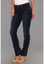 7 For All Mankind Short Inseam Kimmie Straight Leg in Slim Illusion Merci Blue (Slim Illusion Merci Blue) - Apparel