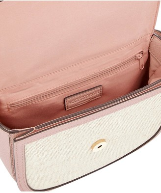 Accessorize Linen Mix Crossbody Bag - Nude