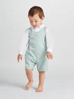 Oscar de la Renta Baby Plaid Cotton Romper