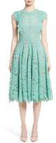 Lela Rose Women's Lace Fit & Flare Dress