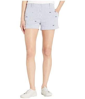 Vineyard Vines Seersucker Whale Embroidered Shorts